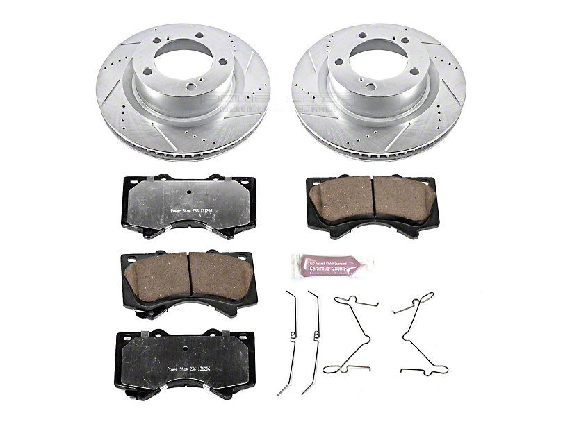Power Stop Z36 Extreme Truck and Tow Brake Rotor and Pad Kit; Front (07-20 Tundra)