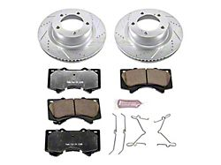 Power Stop Z36 Extreme Truck and Tow 5-Lug Brake Rotor and Pad Kit; Front (07-21 Tundra)