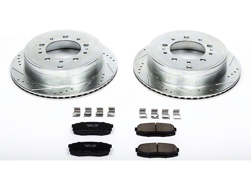 Power Stop Z23 Evolution Sport Brake Rotor and Pad Kit; Rear (07-20 Tundra)