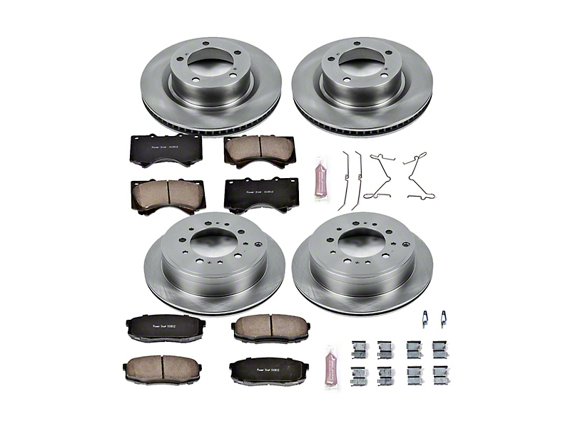 Power Stop OE Replacement Brake Rotor & Pad Kit - Front & Rear (07-20 Tundra)