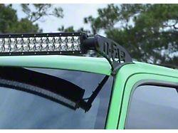 N-Fab 49 Series LED Light Bar Roof Top Light Bar Mount; Textured Black (07-21 Tundra)