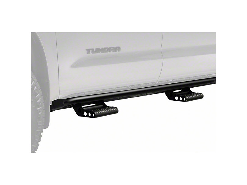 N-Fab Cab Length RKR Bed Access Side Rails with Detachable Steps; Textured Black (07-20 Tundra CrewMax)