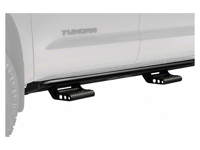 N-Fab Cab Length RKR Bed Access Side Rails with Detachable Steps; Textured Black (07-21 Tundra CrewMax)