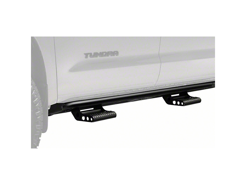 N-Fab Cab Length RKR Side Rails with Detachable Steps; Textured Black (07-20 Tundra CrewMax)