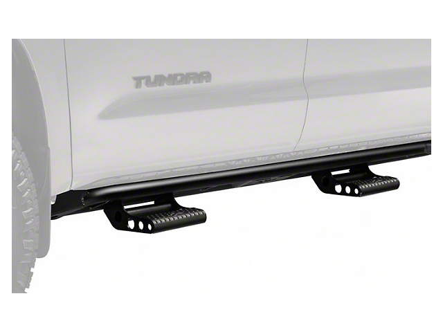 N-Fab Cab Length RKR Side Rails with Detachable Steps; Textured Black (07-21 Tundra CrewMax)