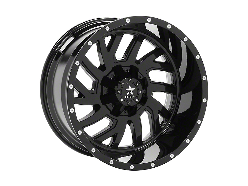 RBP 65R Glock Black 5-Lug Wheel; 20x10; 10mm Offset (14-20 Tundra)