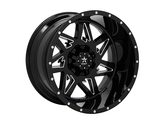 RBP 71R Avenger Gloss Black Machined 5-Lug Wheel - 20x10; -12mm Offset (14-20 Tundra)
