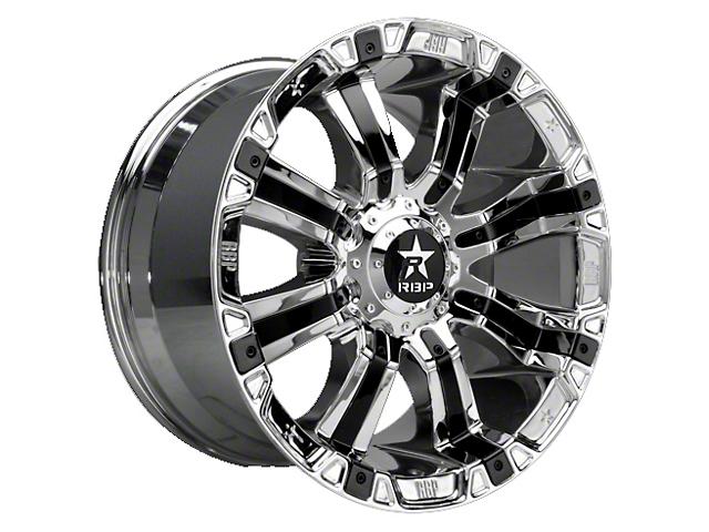 RBP 94R Chrome with Black Inserts 5-Lug Wheel; 20x9; 10mm Offset (07-13 Tundra)