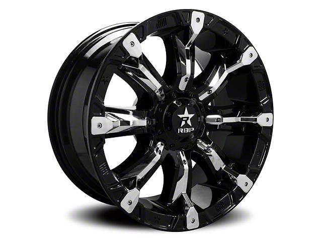 RBP 94R Black w/ Chrome Inserts 5-Lug Wheel - 17x9; -12mm Offset (07-13 Tundra)