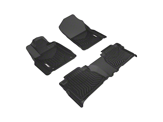 Aries Automotive StyleGuard XD Front & 2nd Row Floor Liners - Black (07-13 Tundra Double Cab)