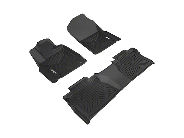 StyleGuard XD Front and Second Row Floor Liners; Black (14-17 Tundra Double Cab)