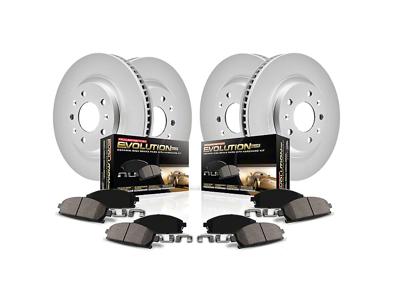 Power Stop Z17 Evolution Plus 5-Lug Brake Rotor and Pad Kit; Front and Rear (07-20 Tundra)