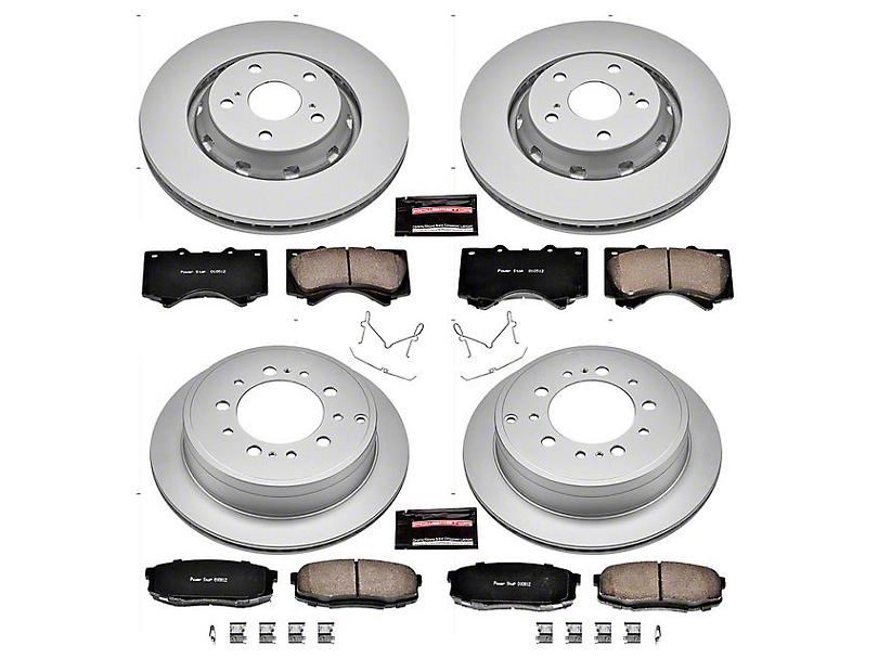 Power Stop Z17 Evolution Plus 5-Lug Brake Rotor & Pad Kit - Front & Rear (07-20 Tundra)