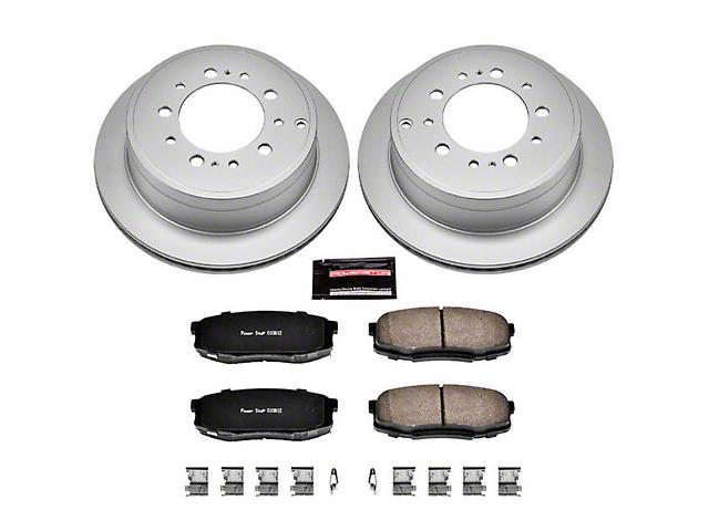 Power Stop Z17 Evolution Plus 5-Lug Brake Rotor and Pad Kit; Rear (07-20 Tundra)