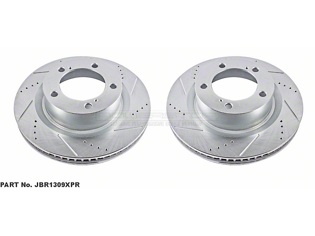 Power Stop Evolution Cross-Drilled and Slotted 5-Lug Rotors; Front Pair (07-20 Tundra)