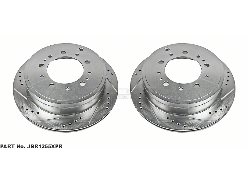 Power Stop Evolution Cross-Drilled & Slotted 5-Lug Rotors - Rear Pair (07-20 Tundra)