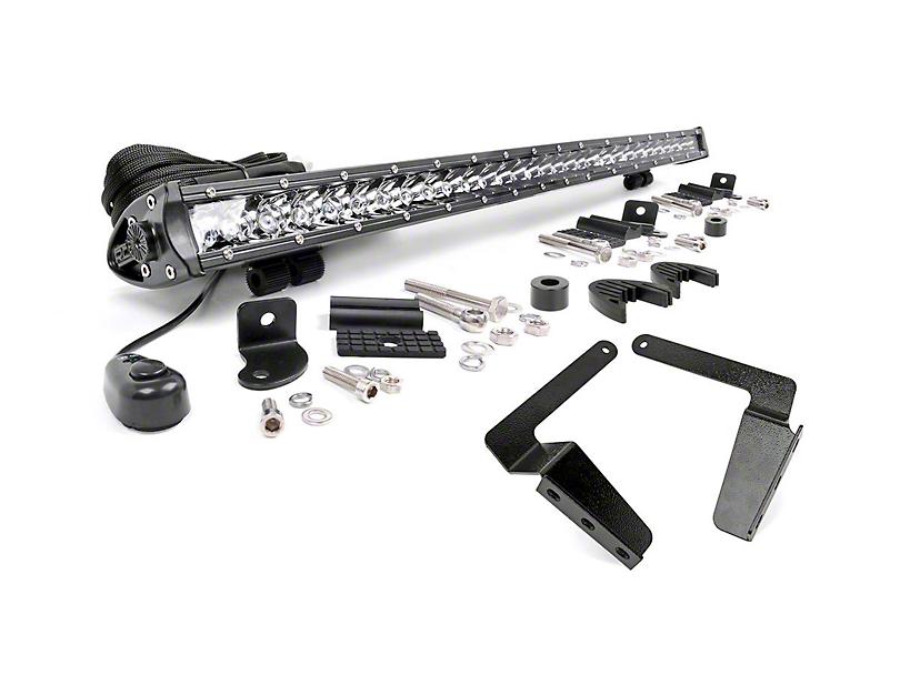 Rough Country 30-Inch Chrome Series LED Light Bar Bumper Kit (14-20 Tundra)