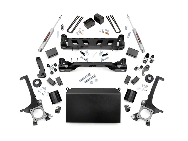 Rough Country 6-Inch Suspension Lift Kit with Premium N3 Shocks (16-21 Tundra)