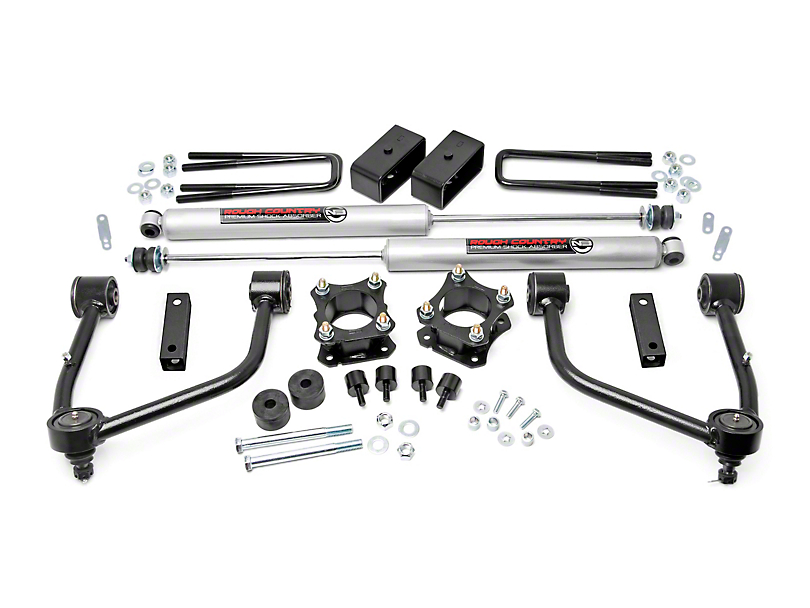 Rough Country 3 in. Bolt-On Suspension Lift Kit w/ Premium N3 Shocks (07-19 4WD Tundra)