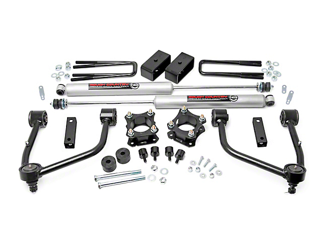 Rough Country 3.50-Inch Bolt-On Suspension Lift Kit with Premium N3 Shocks (07-21 Tundra, Excluding TRD Pro)