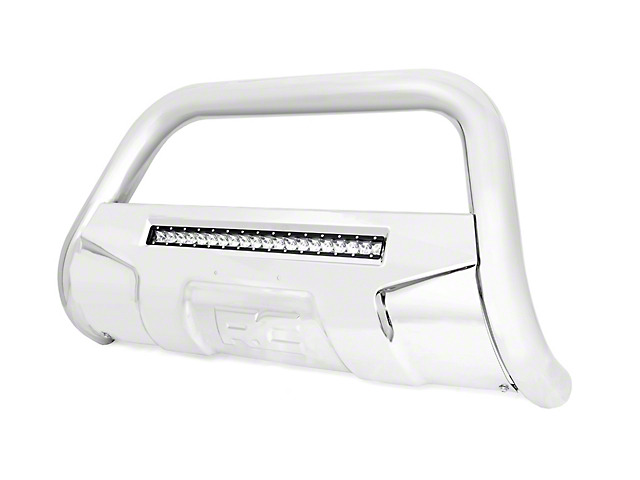 Rough Country Bull Bar with 20-Inch LED Light Bar; Stainless Steel (07-21 Tundra)