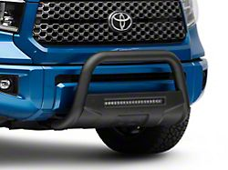 Rough Country Bull Bar with 20-Inch LED Light Bar; Black (07-21 Tundra)