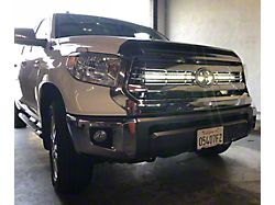 Cali Raised LED 42-Inch Curved LED Light Bar with Hidden Grille Mounting Brackets; Spot Beam (14-21 Tundra)