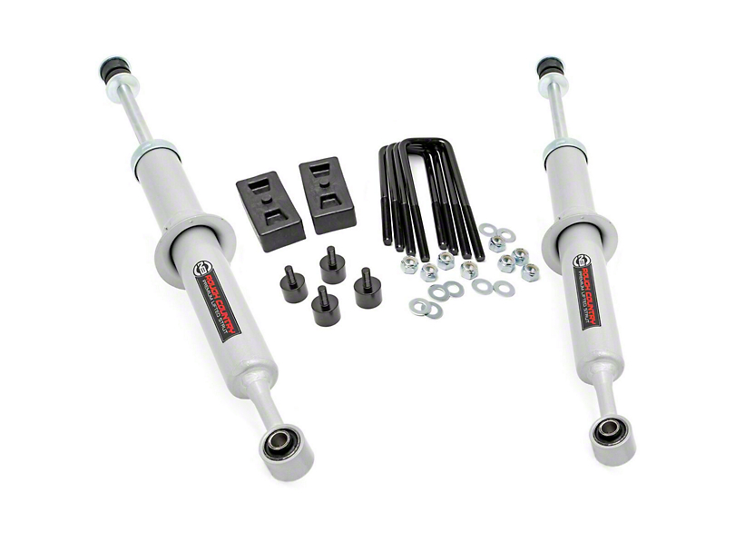 Rough Country 2.50 to 3-Inch Leveling Lift Kit with Lifted N3 Struts (07-20 2WD Tundra)