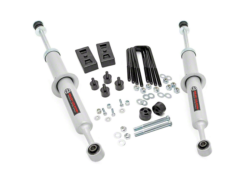 Rough Country 2.5-3 in. Leveling Lift Kit w/ Lifted N3 Struts (07-20 4WD Tundra)