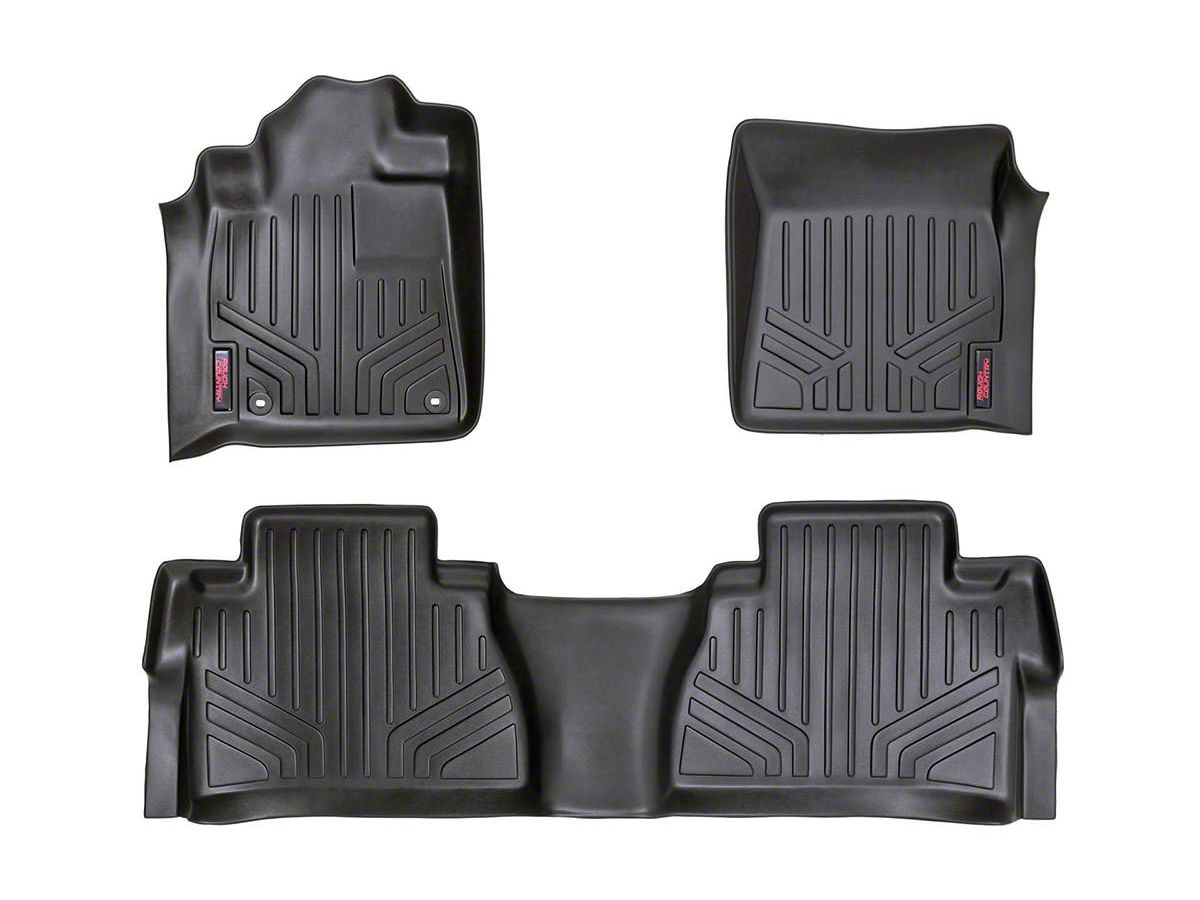 All Weather Mats 2nd Row BLK Fit 14-18 Toyota Tundra Double Cab and CrewMax