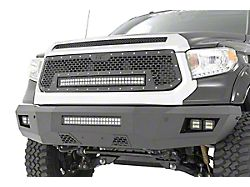 Rough Country Mesh Upper Grille with 30-Inch Black Series Cool White DRL LED Light Bar (12-13 Tundra)
