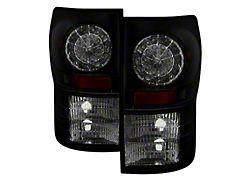 LED Tail Lights; Black Housing; Smoked Lens (07-13 Tundra)