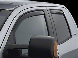 Weathertech Side Window Deflectors; Front and Rear; Dark Smoke (07-21 Tundra Double Cab)