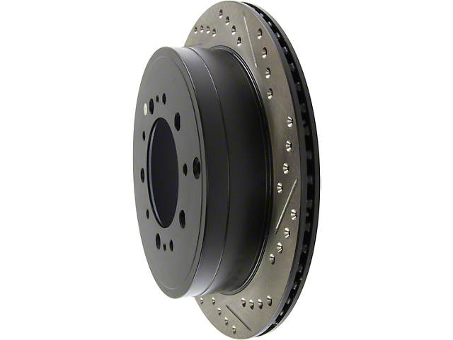 StopTech Select Sport Drilled and Slotted 5-Lug Rotor; Rear (07-20 Tundra)