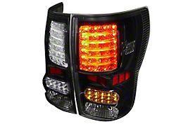 LED Tail Lights; Matte Black Housing; Clear Lens (07-13 Tundra)