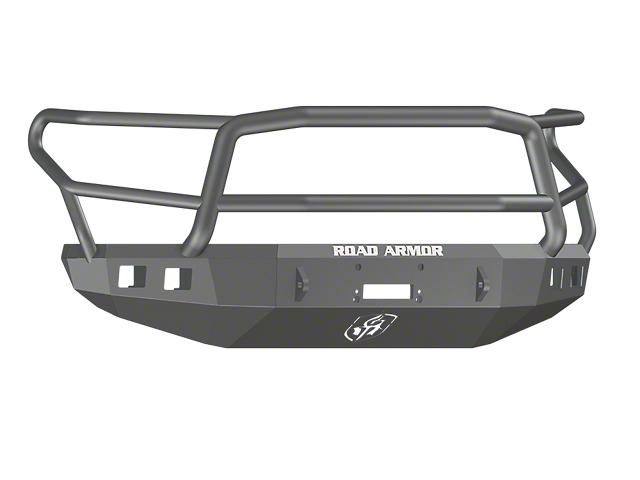 Road Armor Stealth Winch Front Bumper with Lonestar Guard; Satin Black (14-21 Tundra)