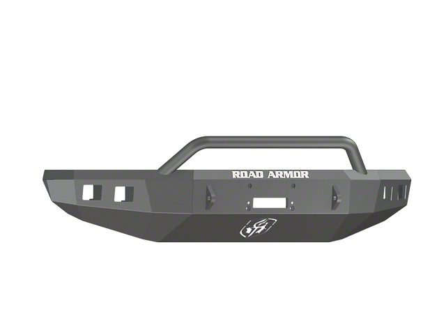 Road Armor Stealth Winch Front Bumper with Pre-Runner Guard; Satin Black (14-21 Tundra)