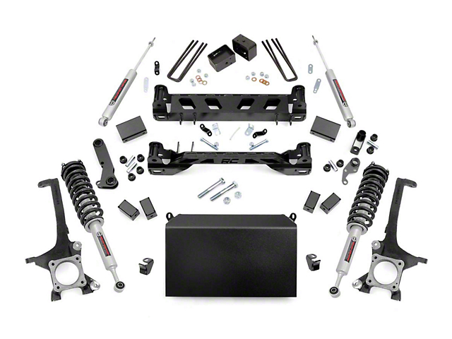 Rough Country 6-Inch Suspension Lift Kit with Lifted N3 Struts and Premium N3 Shocks (16-21 Tundra)
