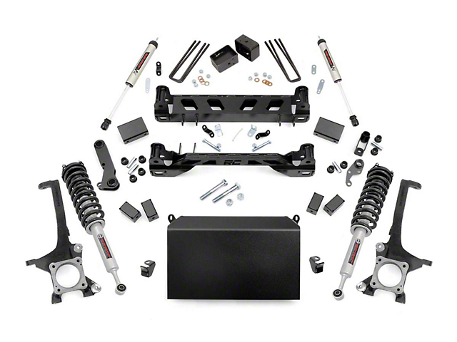 Rough Country 6-Inch Suspension Lift Kit with Lifted N3 Struts and V2 Monotube Shocks (16-21 Tundra)