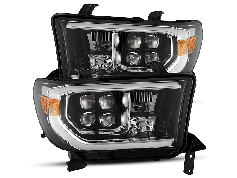 AlphaRex NOVA-Series LED Projector Headlights; Jet Black (07-13 Tundra)