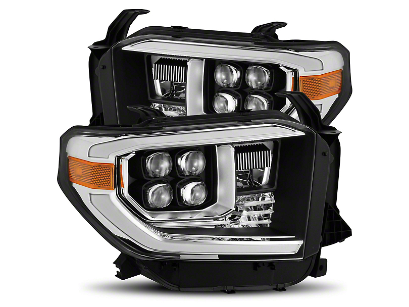 NOVA-Series LED Projector Headlights; Matte Black (14-20 Tundra, Excluding TRD Pro)
