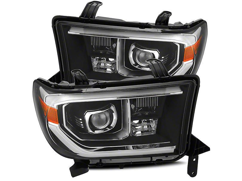 AlphaRex PRO-Series Projector Headlights; Black (07-13 Tundra w/o Level Adjuster)