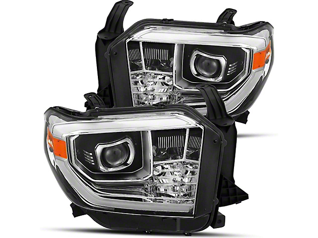 PRO-Series Projector Headlights; Chrome (14-20 Tundra, Excluding TRD Pro)