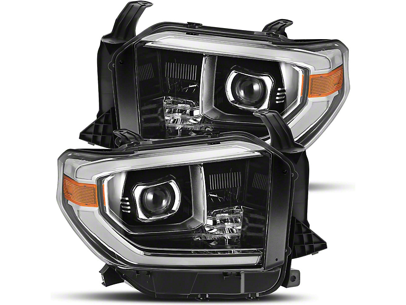 PRO-Series Projector Headlights; Jet Black (14-20 Tundra, Excluding TRD Pro)
