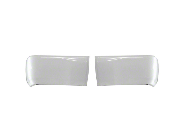 Rear Bumper Covers; Gloss White (14-21 Tundra)