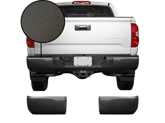 Rear Bumper Covers; Textured Black (14-21 Tundra)