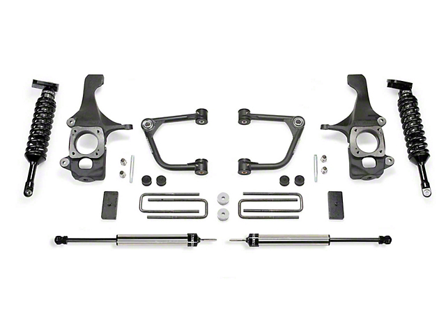 Fabtech 2-Inch Uniball Upper Control Arm Lift System with Dirt Logic 2.5 Coil-Overs and Dirt Logic 2.25 Shocks (16-20 Tundra TRD Pro)