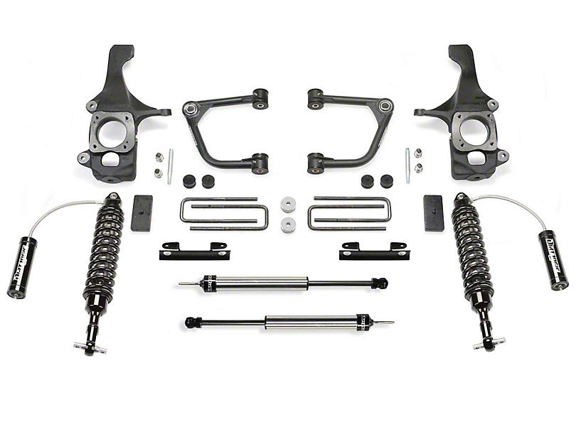 Fabtech 2-Inch Uniball Upper Control Arm Lift System with Dirt Logic 2.5 Reservoir Coil-Overs and Dirt Logic 2.25 Shocks (16-20 Tundra TRD Pro)