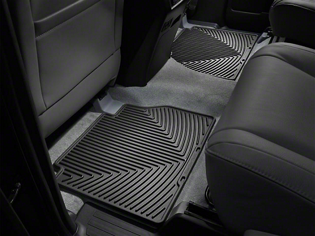 Weathertech All-Weather Rear Floor Mat; Black (07-20 Tundra Double Cab, CrewMax)