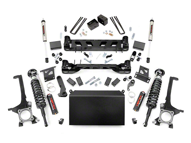Rough Country 6-Inch Suspension Lift Kit with Adjustable Vertex Coil-Overs and V2 Monotube Shocks (16-21 Tundra, Excluding TRD Pro)